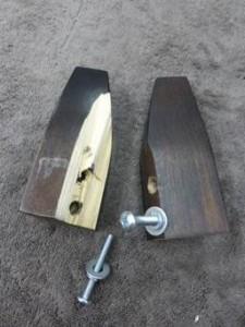 broken furniture leg and replacement